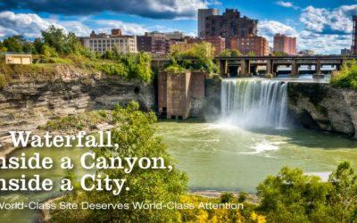 Coming soon to an urban waterfall near you: The GardenAerial zipline