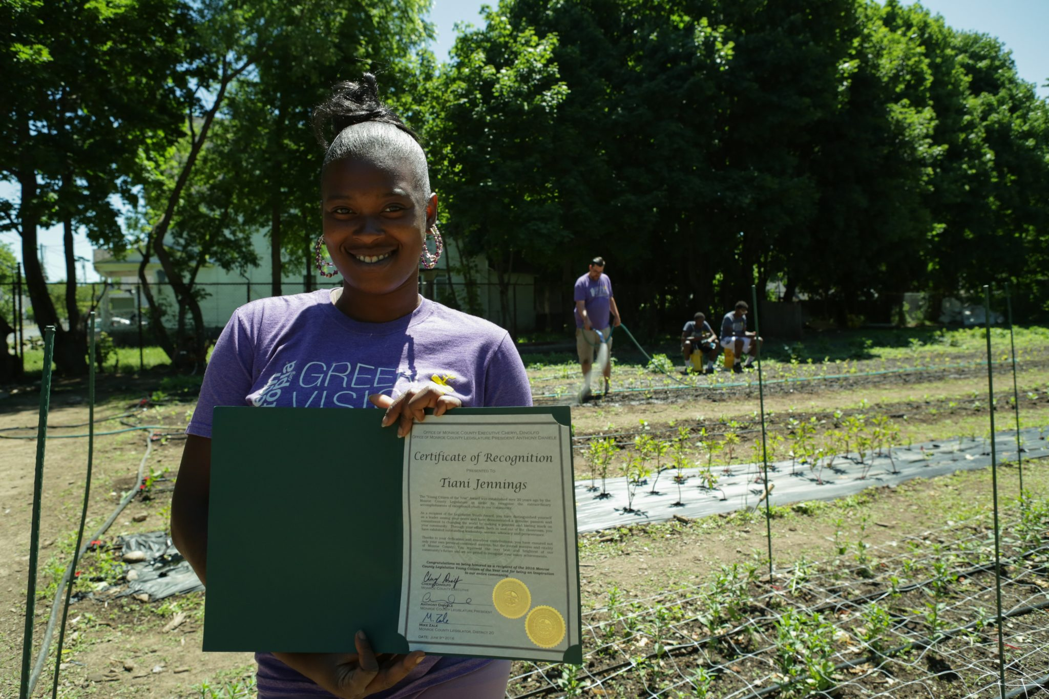 Three cheers for Tiani Jennings, our Green Visions site manager!